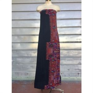 TWELFTH STREET C. VINCENT Silk Boho Maxi Dress!